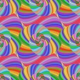 Barwiony ślimakowaty fractal wzór w jaskrawych kolorach royalty ilustracja