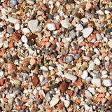 barwiony żwir O dużej zdolności bezszwowa tekstura Piaska lub otoczaka tekstura Zdjęcia Stock