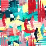 Barwiony abstrakcjonistyczny bezszwowy wzór w graffiti stylu ilości wektorowa ilustracja dla twój projekta royalty ilustracja
