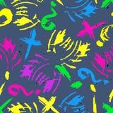 Barwiony abstrakcjonistyczny bezszwowy wzór w graffiti stylu ilości wektorowa ilustracja dla twój projekta ilustracja wektor