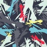 Barwiony abstrakcjonistyczny bezszwowy wzór w graffiti stylu ilości wektorowa ilustracja dla twój projekta Obraz Stock