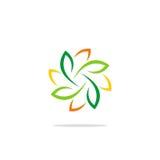 Barwiony abstrakcjonistyczny liścia ruchu piękna logo Zdjęcia Royalty Free