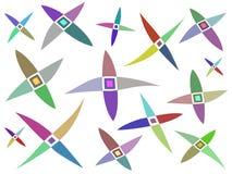 Barwiony abstrakta wzór Obrazy Royalty Free