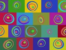 Barwiony abstrakta wzór Fotografia Stock