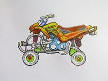 Barwiony ATV motocykl ilustracja wektor