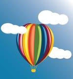 Barwiony balon Obraz Royalty Free