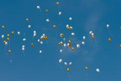 barwiony balonu niebo Obrazy Stock