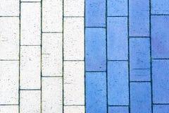 Barwiony beton textured brukowe cegie?ki, zako?czenie w g?r? wizerunku obraz royalty free