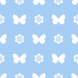 Barwiony bezszwowy deseniowy motyl royalty ilustracja