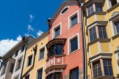Barwiony budynek Zdjęcia Stock