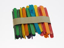 Barwiony Drewniany Popsicle Obrazy Stock