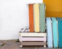 Barwiony drewniany pudełko Fotografia Stock