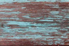 Barwiony drewniany tło z strugać starą farbę Obrazy Stock