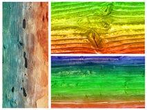 Barwiony drewno Zdjęcie Royalty Free
