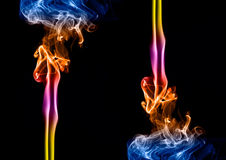 barwiony dym Zdjęcia Royalty Free