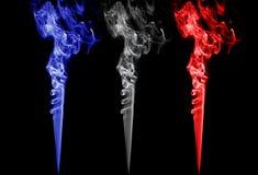 Barwiony dym. france, Holland, England, Norway, Poland, republika czech, Slovenia zaznacza kolory Zdjęcie Stock
