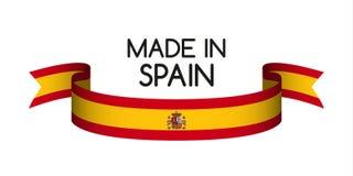 Barwiony faborek z hiszpańszczyzna kolorami, Robić w Hiszpania ilustracja wektor