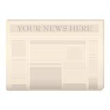 barwiony gazetowy szablon Obraz Stock