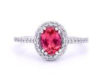 Barwiony gemstone pierścionek Fotografia Royalty Free