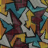 Barwiony geometryczny bezszwowy wzór Zdjęcie Royalty Free