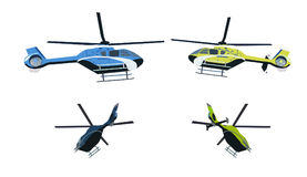 Barwiony helikopter Obraz Stock