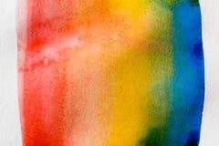 Barwiony jako tęczy abstrakcjonistyczna akwarela malował tekstury tło royalty ilustracja