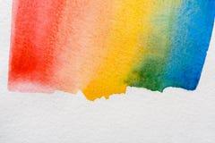 Barwiony jako tęczy abstrakcjonistyczna akwarela malował tekstury tło ilustracja wektor