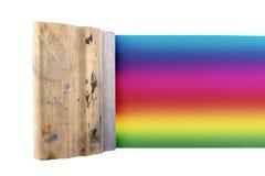 Barwiony jedwabniczy ekran obraz stock