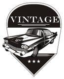 Barwiony klasyczny samochód i ikona ilustracji