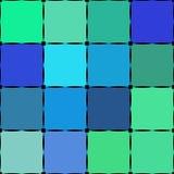 Barwiony kwadratowy bezszwowy wzór z czarną kropką Zdjęcie Stock