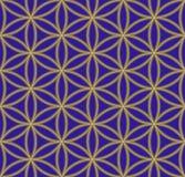 Barwiony kwiat życie geometrii święty wzór royalty ilustracja