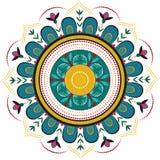 Barwiony kwiecisty mandala royalty ilustracja