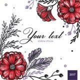 Barwiony Kwiecisty wiosny tło ilustracja wektor