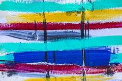 Barwiony lampasa tło akrylowa farba zdjęcie stock