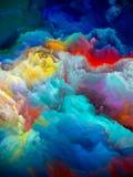 Barwiony lodowiec Obrazy Stock