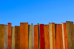 Barwiony Malujący Stary Podławy Drewniany biurka tło Drewniany tło Fotografia Royalty Free
