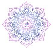 Barwiony mandala medytacja, relaks - buddyzm - ilustracji