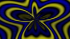 Barwiony materiału filmowego kwiat ilustracja wektor