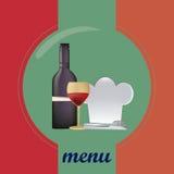 Barwiony menu projekt Obraz Stock