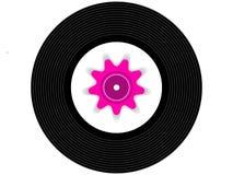 Barwiony muzyczny winylowy rejestr Fotografia Stock