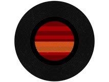 Barwiony muzyczny winylowy rejestr Obraz Stock