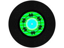 Barwiony muzyczny winylowy rejestr Zdjęcia Stock