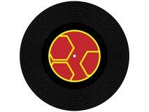 Barwiony muzyczny winylowy rejestr Zdjęcia Royalty Free
