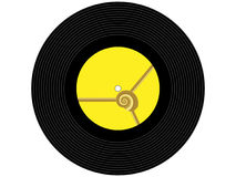 Barwiony muzyczny winylowy rejestr Obraz Royalty Free