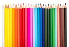 Barwiony ołówka rząd obraz stock