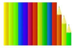 Barwiony ołówka tło ilustracja wektor