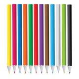 barwiony ołówkowy set ilustracji