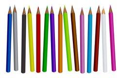 barwiony ołówkowy set ilustracja wektor