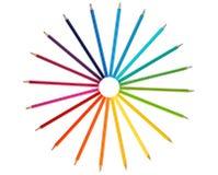 Barwiony ołówek Fotografia Royalty Free