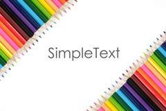 Barwiony ołówkowy szablon Zdjęcia Stock